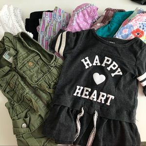 9 Piece Toddler Girls Mixed Lot Old 12-18 Months